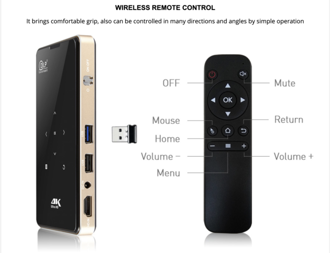 Portable DLP Android TV mini Projector
