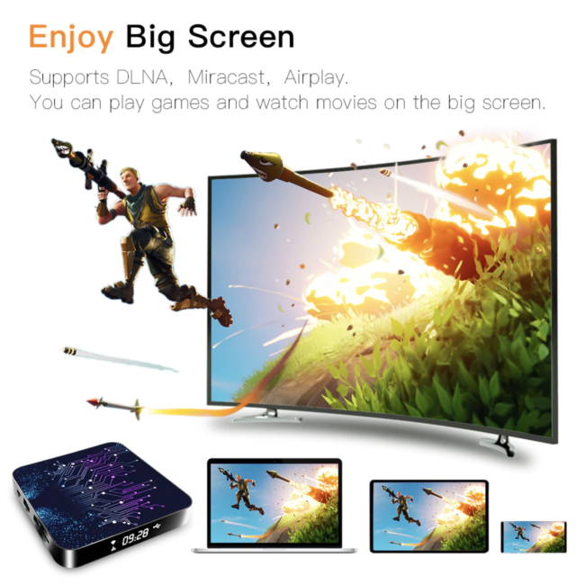 Android Topsion Smart TV Box Android 10 4GB 64GB 4K-7